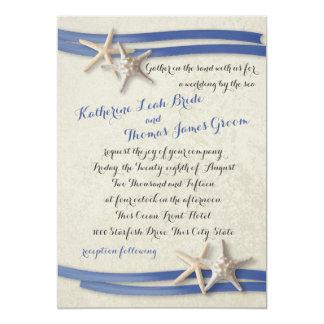 Starfish and Ribbon Blue Card