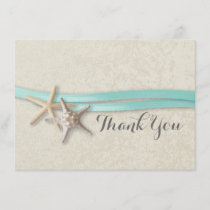 Starfish and Ribbon Flat Card Thank You