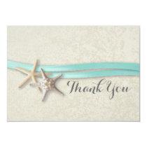 Starfish and Ribbon Flat Card Thank You