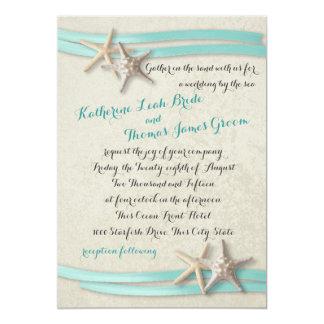 Starfish and Ribbon 5x7 Paper Invitation Card