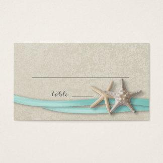 Starfish and Ribbon Place card
