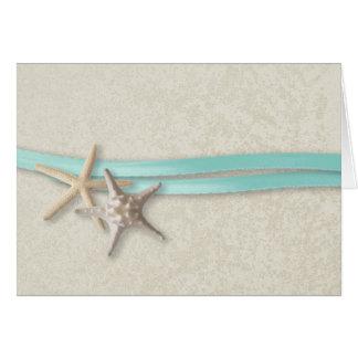 Starfish and Ribbon Thank You Card