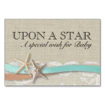 Starfish and Ribbon Wish For Baby Card