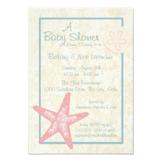 Starfish and Sand Dollar Baby Shower Card