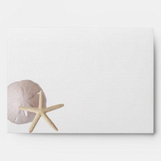 Starfish and Sand Dollar Envelope