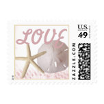 Starfish and Sand Dollar Love Pink Stamps