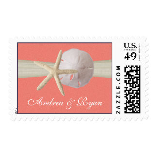 Starfish and Sand Dollar Shell Coral Postage