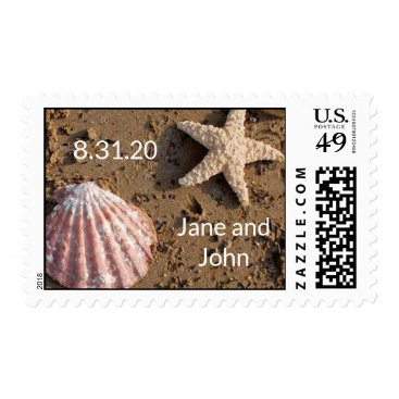 Starfish and Sea Shell Postage Stamps