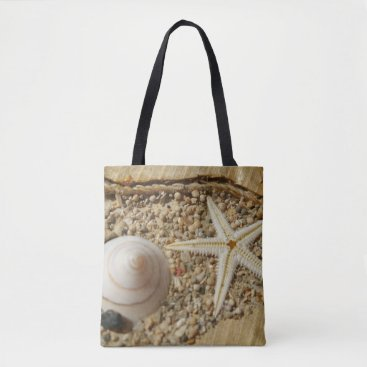 Beach Themed Starfish and Sea shell Tote Bag