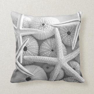 Starfish and Sea urchins white pillow