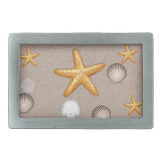 Starfish and Seashells Beach Theme Gifts Rectangular Belt Buckle