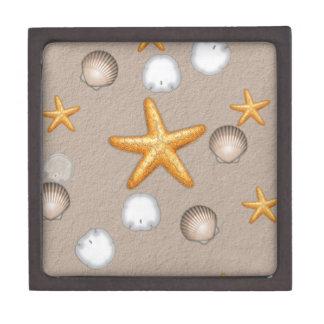 Starfish and Seashells Beach Theme Gifts Premium Trinket Boxes