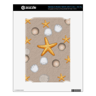 Starfish and Seashells Beach Theme Gifts NOOK Decal