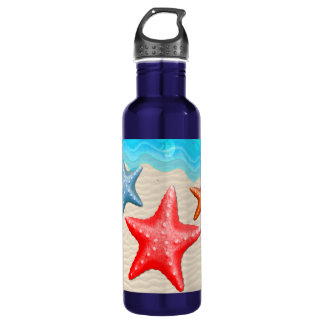 Starfish And Seashells Stainless Steel Water Bottle