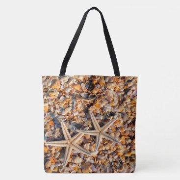 Beach Themed Starfish and Seashells Tote Bag