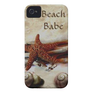 Starfish and shells   beach scene iPhone 4 case