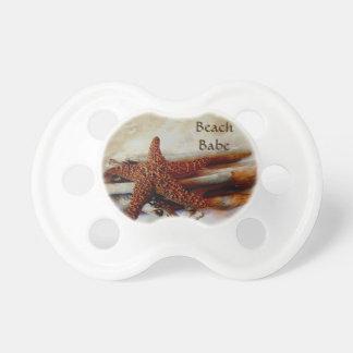 Starfish and shells   beach scene pacifier