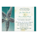 "Starfish and Shells Wedding Invitation 5"" X 7"" Invitation Card"
