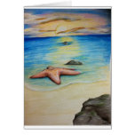 Starfish and the Shore Greeting Cards