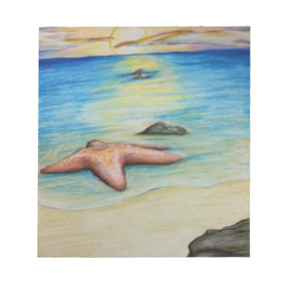 Starfish and the Shore Notepad