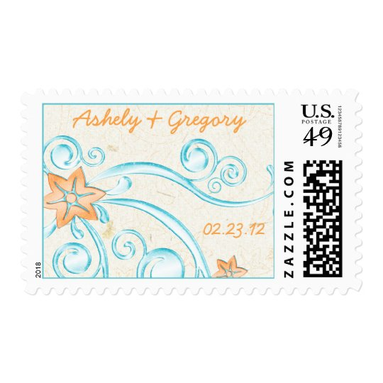 Starfish and Water Destination Wedding Postage