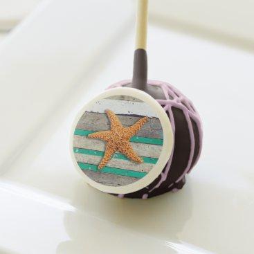 Beach Themed Starfish and Weathered Planks Beach Cake Pops