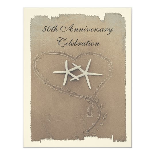 Starfish Anniversary Invitations