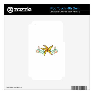 STARFISH APPLIQUE BORDER SKIN FOR iPod TOUCH 4G