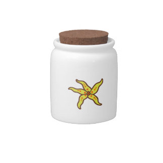 STARFISH APPLIQUE CANDY JARS