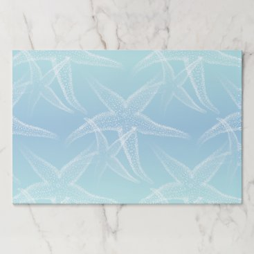 Beach Themed Starfish Aqua Blue Beach Placemat Pad