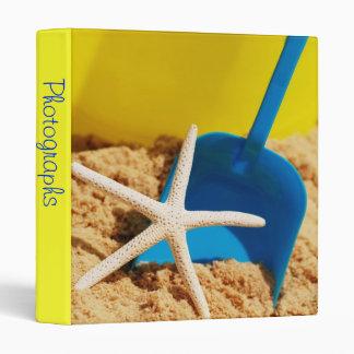 """Starfish at the Beach 1"""" Photo Album 3 Ring Binder"""
