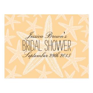 Starfish Beach Bridal Shower Recipe Cards