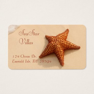 Beach Themed Starfish Beach Business Card
