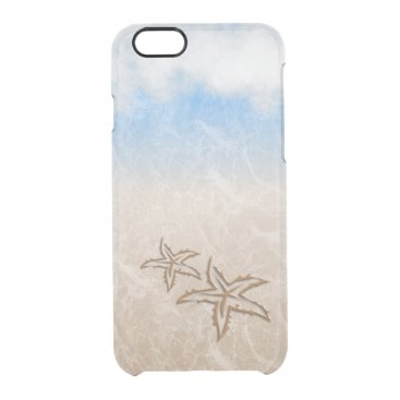 Beach Themed Starfish Beach Clear iPhone 6/6S Case