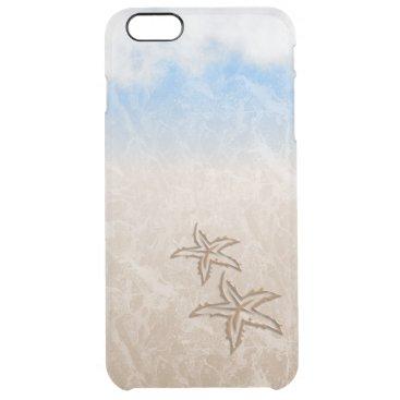 Beach Themed Starfish Beach Clear iPhone 6 Plus Case