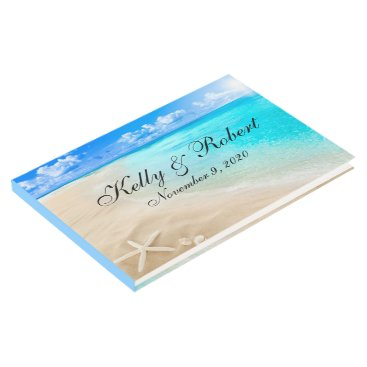 Beach Themed Starfish Beach Custom Wedding Guest Book