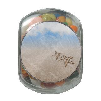 Starfish Beach Glass Candy Jars