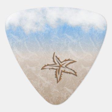Beach Themed Starfish Beach Guitar Pick