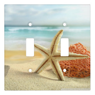 Beach Starfish Light Switch Covers Tropical Ocean Sunset Home Decor Outlet