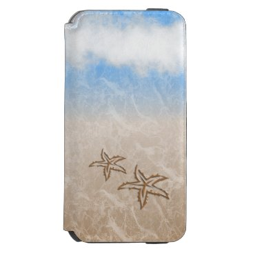 Beach Themed Starfish Beach iPhone 6/6s Wallet Case