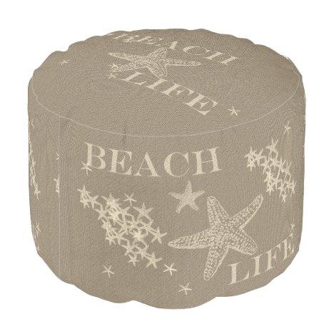 Starfish Beach Life Ottoman Pouf