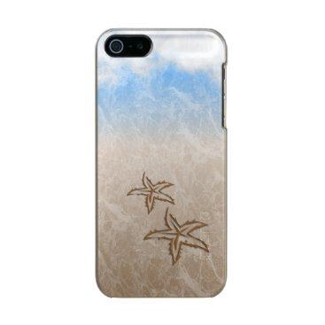 Beach Themed Starfish Beach Metallic iPhone SE/5/5s Case