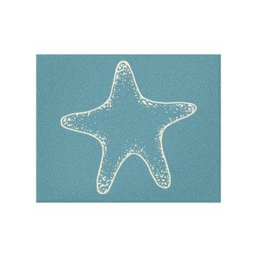 Beach Themed Starfish Beach Ocean Nautical Wall Canvas Art