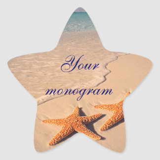 Starfish Beach Ocean Wedding Envelope Seals Labels