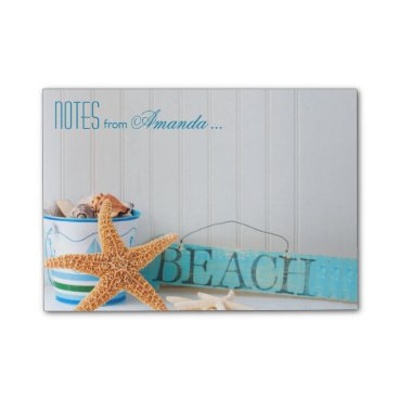 Beach Themed Starfish Beach Personalized Post-it Notes