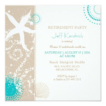 daphne1024 Starfish Beach Retirement Party Card
