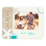 Starfish   Beach Sand Wedding Photo Save the Date Card