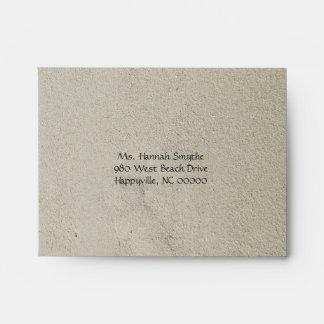 Starfish Beach Sand Wedding RSVP Envelopes