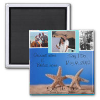 Starfish BEach Save the date 3 photo Magnet