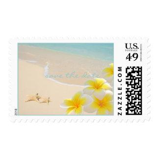 Starfish/Beach/save the date/DIY postage